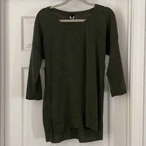 H by Bordeux Thermal Olive Tee